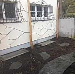 Kletterhilfe Armierungseisen/ Akatienholz