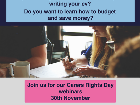 Join us LIVE for Carers Rights Day! 30th November 2018