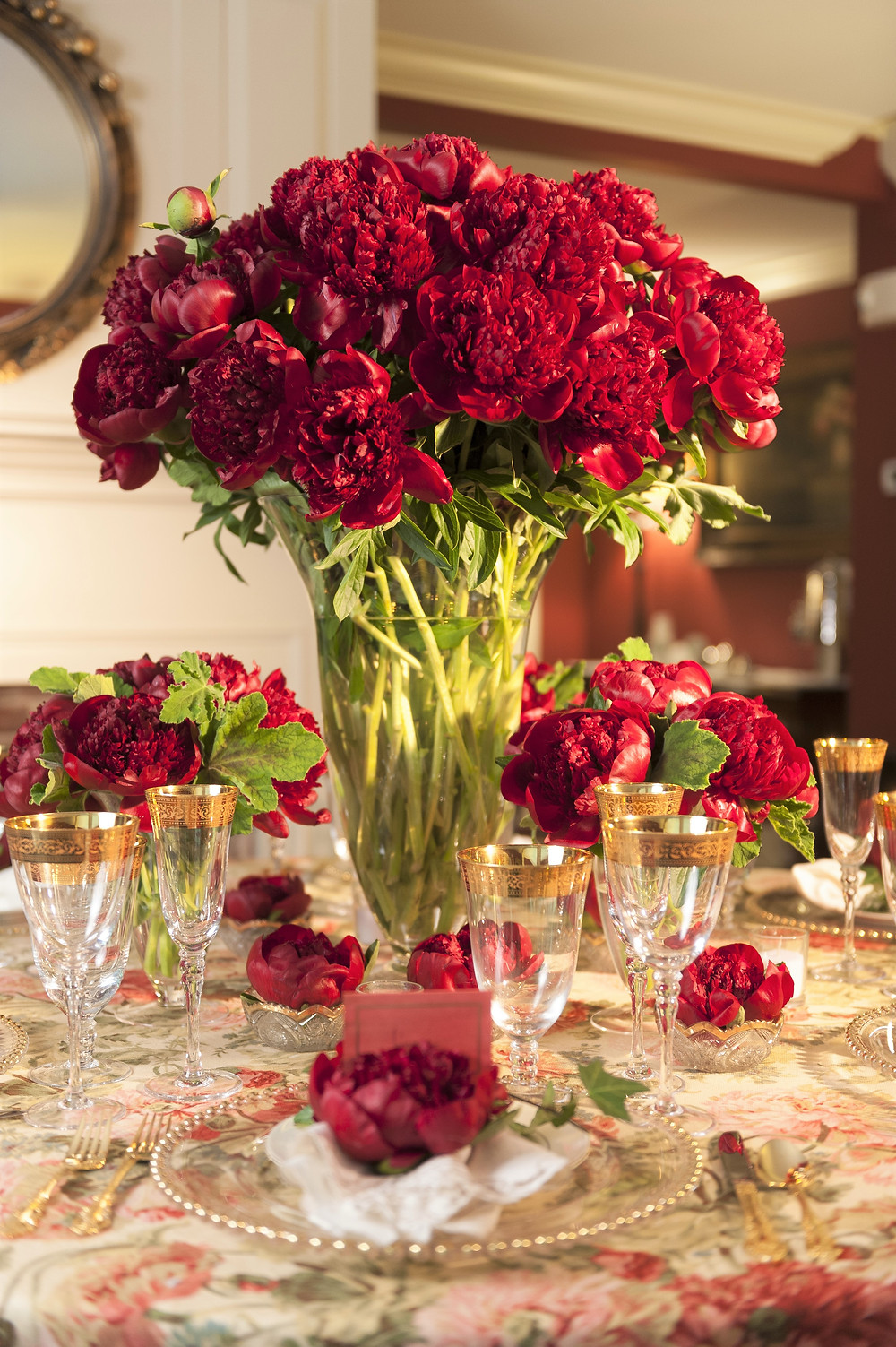 Peony table centre