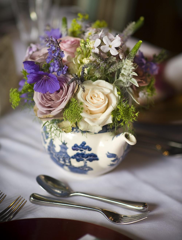 Teapot vintage centrepiece