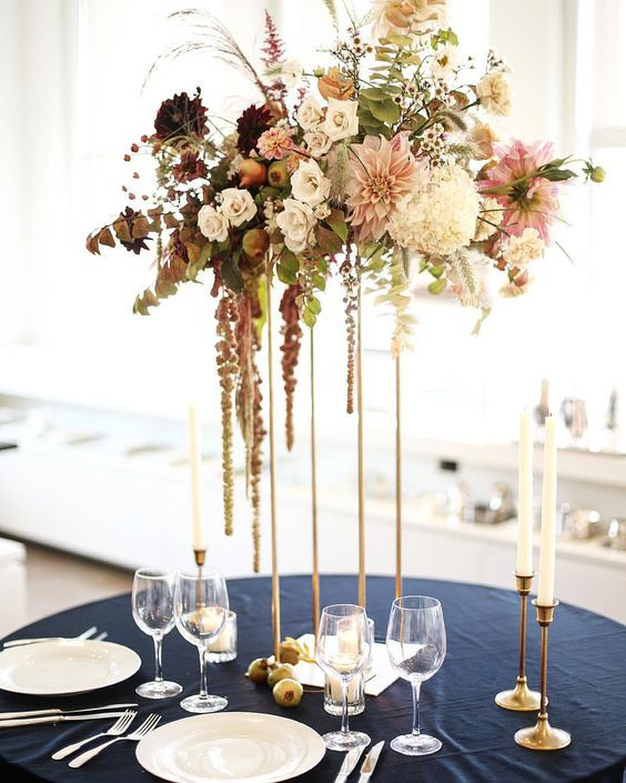 Tall table centrepieces