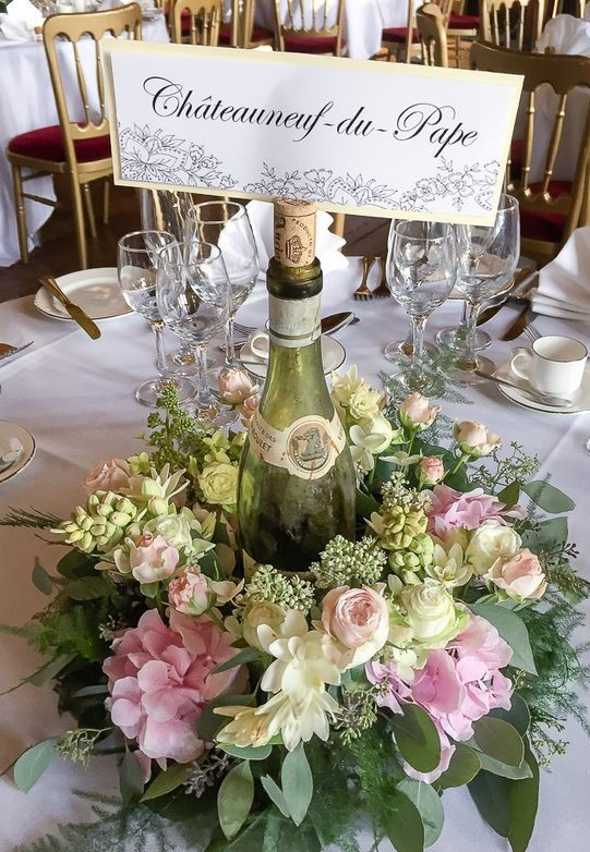 Champagne Table centre