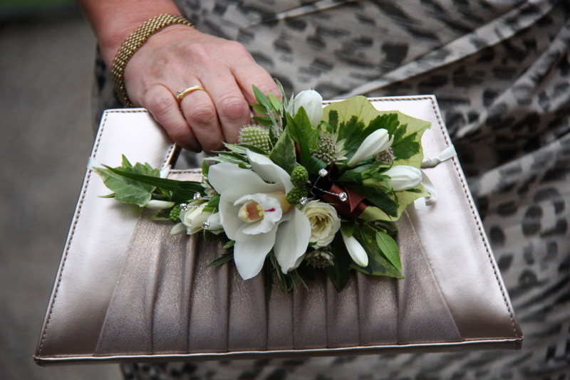 Handbag corsages are stunning!