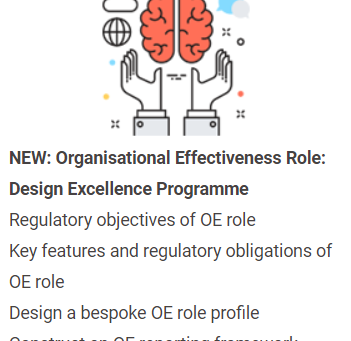 NEW – Organisational Effectiveness Role: Design Excellence Programme