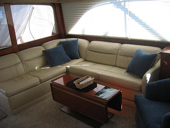Custom Marine Carpeting Boat Sofa