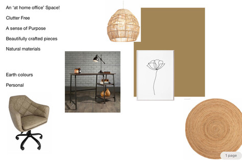 At Home Work Space Mood Board