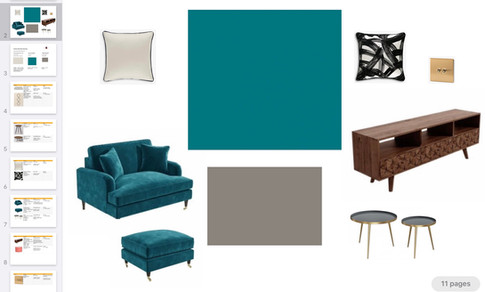 Mood Board for Client Lounge