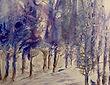 La forêt bleue d'hiver