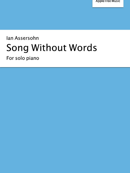 Song Without Words for solo piano