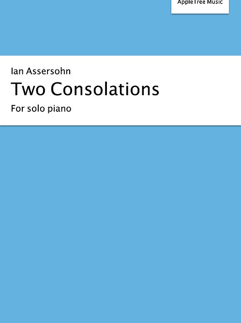 Two consolations for solo piano