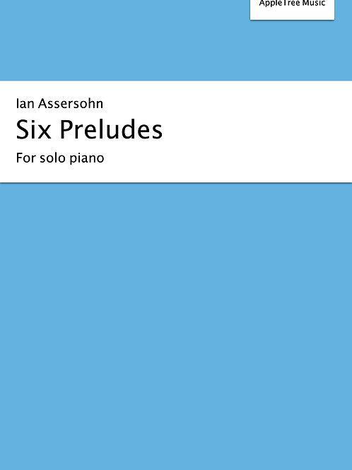 Six preludes for solo piano