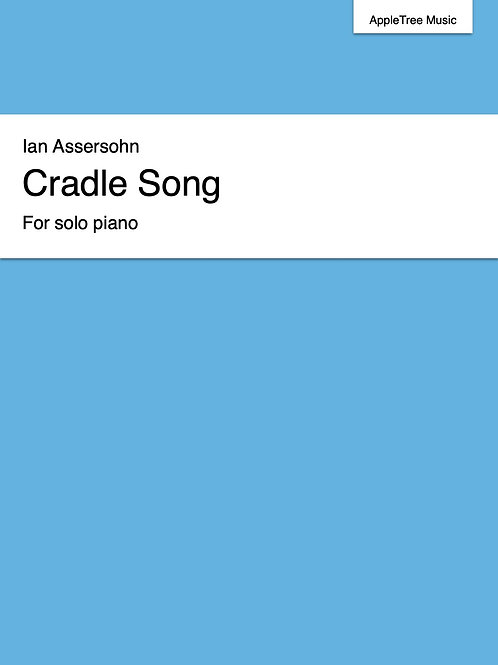 Cradle Song for solo piano