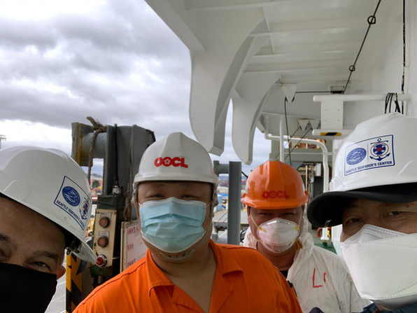 With the 2nd Officer of OOCL San Francisco