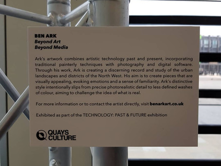 Ben Ark representing the borough of Salford in a Greater-Manchester wide art exhibition