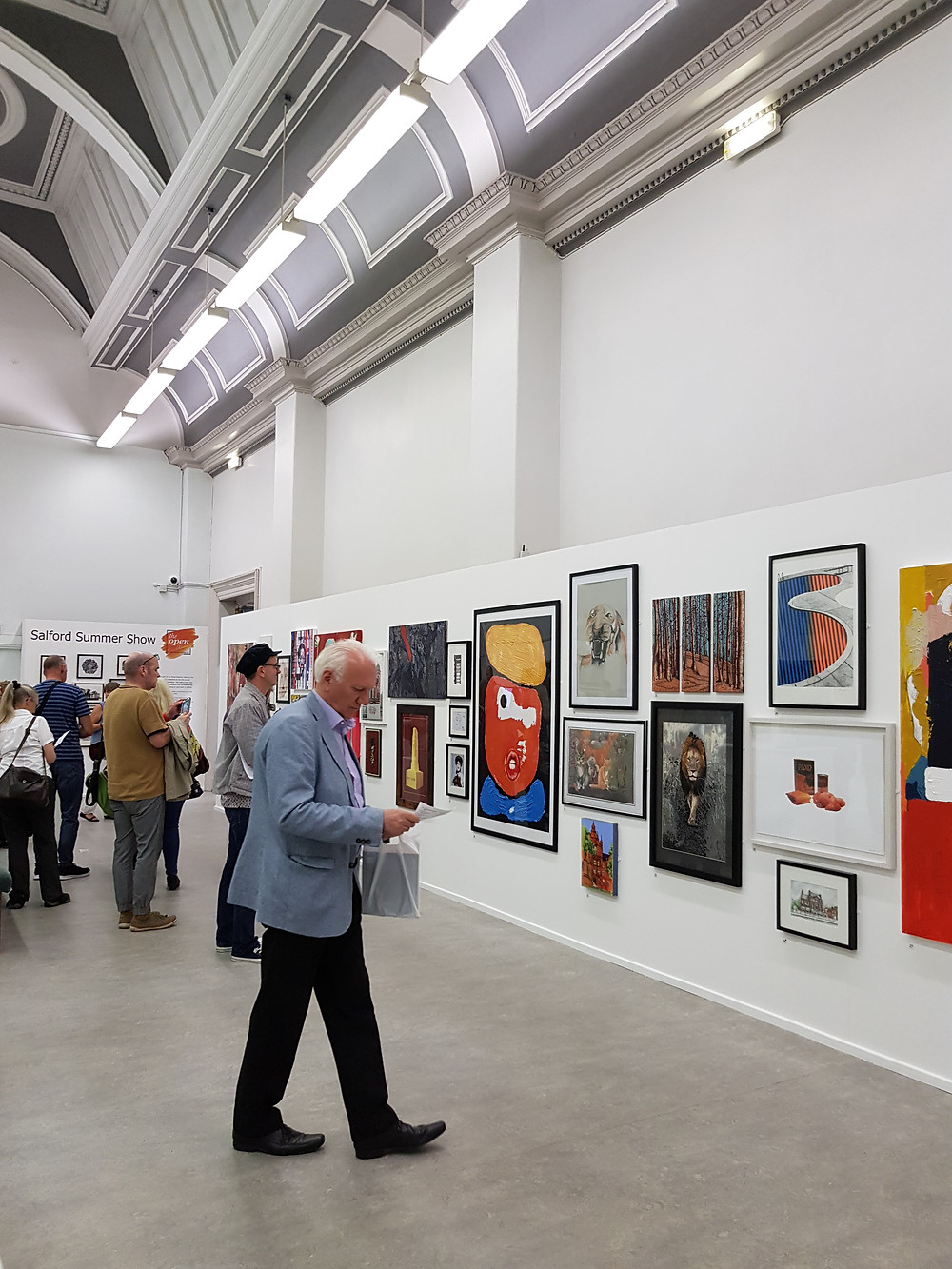 Exhibits at Salford Summer Art Show
