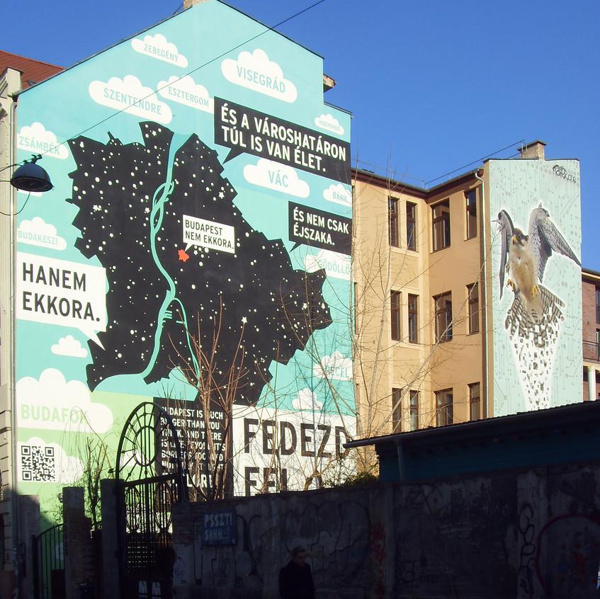 Budapest Map Street Art