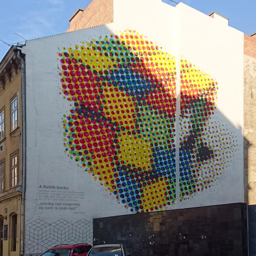 Budapest Rubix Cube Street Art