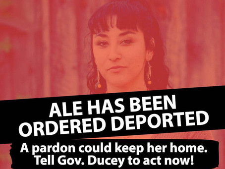 Ale has been ordered deported!