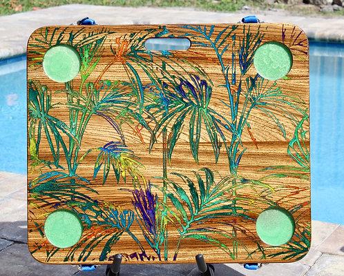 Palms on Zebra Wood