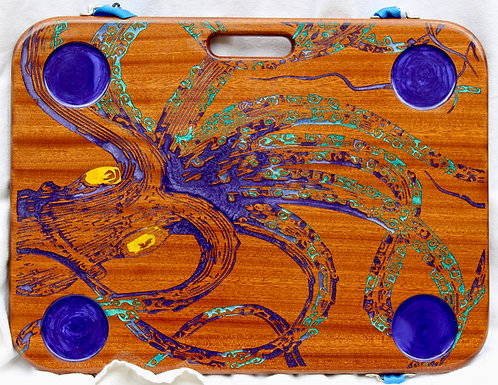 Octopus on Sapele w/4 cup holders