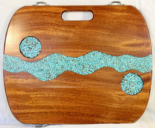 Turquoise River w/stone cups - Sapele
