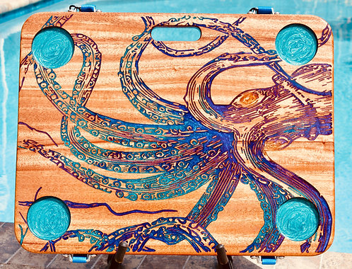 Octopus with Turquoise Cup Holders