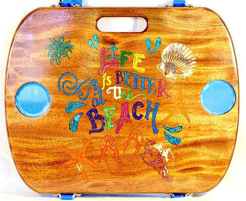 Life is Better at the Beach (Orange Flip Flops)