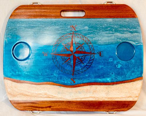 Ocean w/ Copper Compass Rose