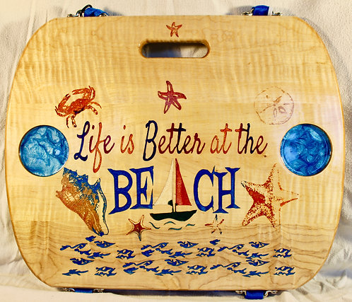 Life is Better at the Beach - Curly Maple