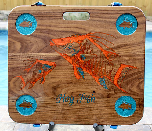 Hogfish on Walnut w/four cup holders