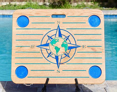 Pinstripe *Compass Rose w/Green World