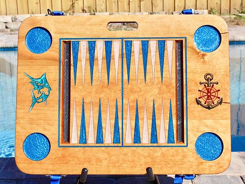 Blue - Backgammon Game - Cherry