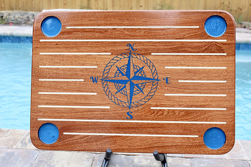Nautical Compass Rose Boat Table