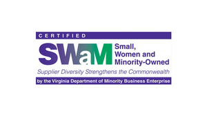 SWaM-certified logo used with expressed permission from SBSD.