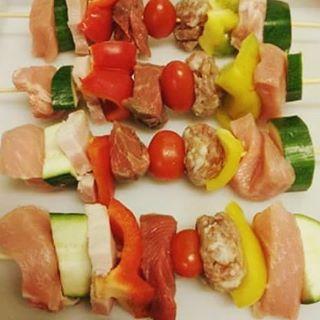 Spiedini carne e verdure