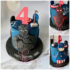 Marvel theme birthday cake