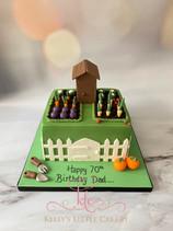 Garden/ Allotment themed cake