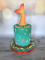Mermaid Tail Ganache Cake