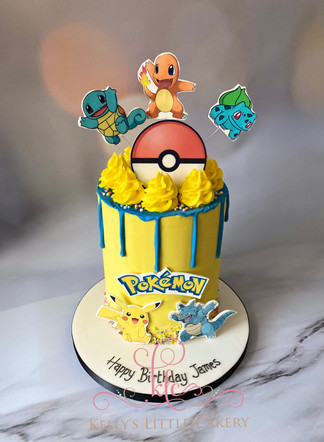 Pokemon Themed Drip Cake