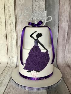 Ruffle Dress Dancer Cake