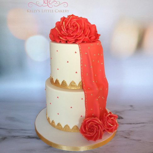 Chunni Ceremony Celebration Cake