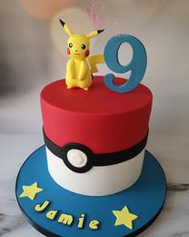Pokemon and pikachu cake