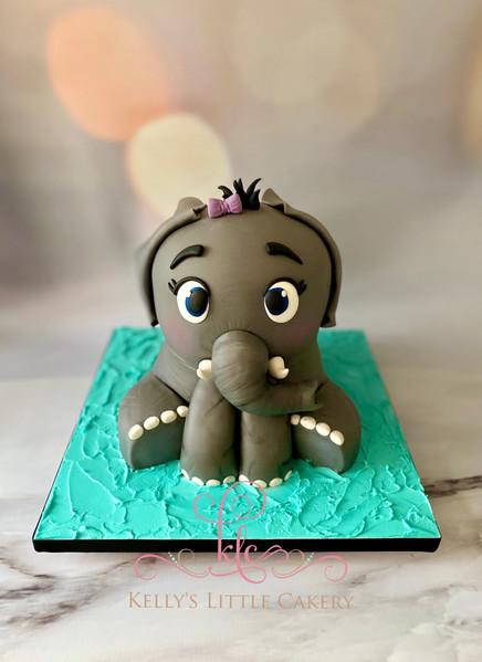 3D Carved Elephant Cake