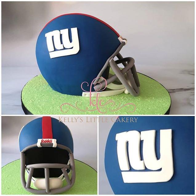 NFL New York Giants Helmet cake