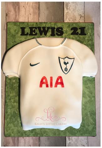 Tottenham Football Shirt Cake