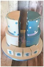 Split into Two Cake, Half and Half Cake