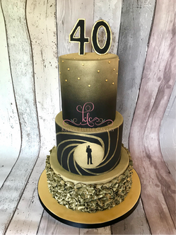 James Bond Theme Golden Eye Cake