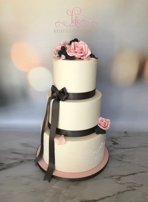 Eternity - Three tier classic white wedding cake