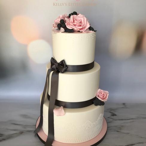 Eternity - Three tier classic white wedding cake