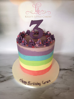 Rainbow Ganache Cake
